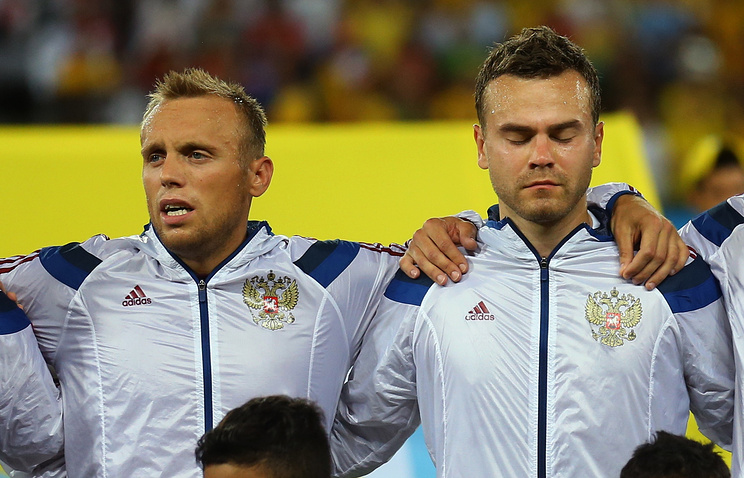 Крицюк иСмолов отсутствуют натренировке сборной, Глушаков— вобщей группе