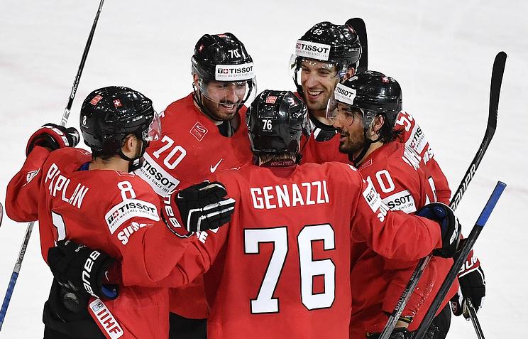 Сборная республики Белоруссии проиграла четвертый матч подряд начемпионате мира похоккею