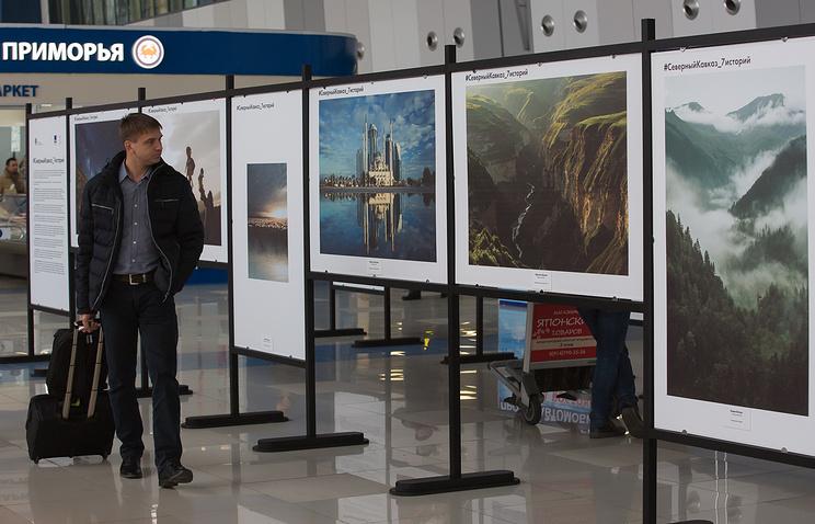 Ваэропорту открылась фотовыставка, приуроченная к Северному Кавказу