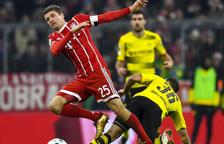 «Бавария» переиграла «Боруссию» Двматче 1/8 финала Кубка Германии