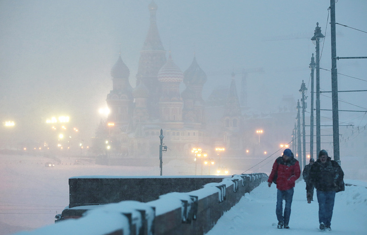 Синоптики обещали метель исильный ветер наКрещение вМоскве