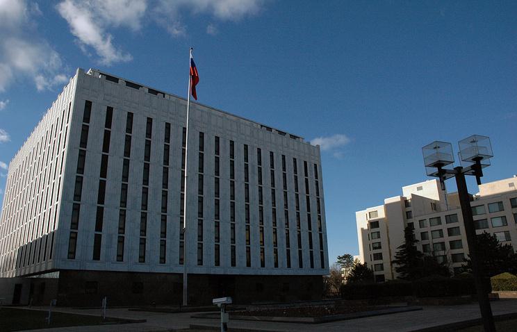 Здание посольства РФ в США