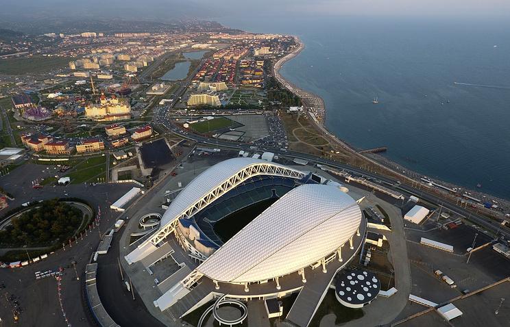 "Стадион ""Фишт"" на территории Олимпийского парка в Сочи"