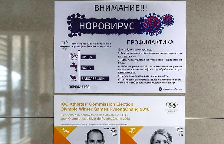 Швейцарские спортсмены заразились норовирусом наОлимпиаде вПхёнчхане