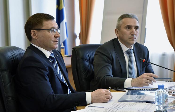 Глава Минстроя России Владимир Якушев и врио губернатора Тюменской области Александр Моор (слева направо)