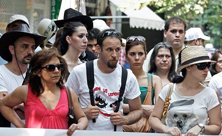 Акция протеста работников туриндустрии. Фото EPA/ИТАР-ТАСС