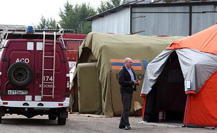 На территории палаточного лагеря для мигрантов в районе бывшего Черкизовского рынка. Фото ИТАР-ТАСС/ Станислав Красильников