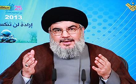 Хасан Насрулла. Стоп-кадр EPA/AL-MANAR TV/ИТАР-ТАСС