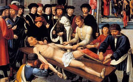 """""""Сдирание кожи с продажного судьи"""", Жерар Давид. 1499 год"""