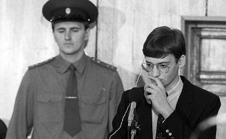 Судебный процесс по делу Матиаса Руста, 1987 год. Фото ИТАР-ТАСС