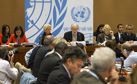 Заседание комиссии по Сирии. Фото EPA/ИТАР-ТАСС