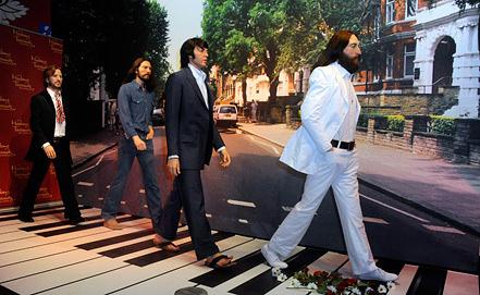 Восковые фигуры музыкантов The Beatles. Фото EPA/ИТАР-ТАСС
