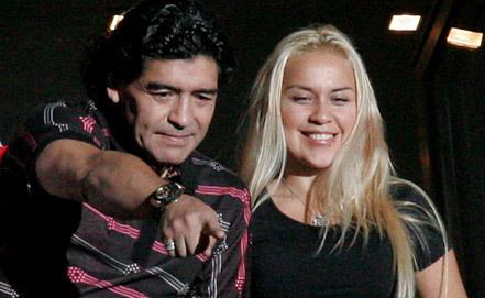 Диего Марадона и Вероника Охеда. Фото EPA/ИТАР-ТАСС