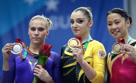 Гимнастки Ксения Афанасьева и Алия Мустафина Фото ИТАР-ТАСС
