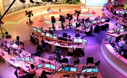 """Студия """"Аль-Джазиры"""" в Дохе. Фото ЕРА/ИТАР-ТАСС"""