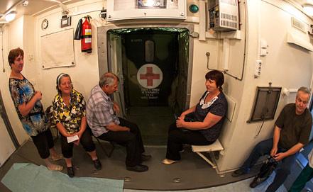 Полевой госпиталь для эвакуированных жителей. Фото ИТАР-ТАСС/ Игорь Агеенко