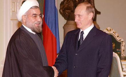 Хасан Роухани и Владимир Путин. 2005. Фото ИТАР-ТАСС/Сергей Жуков
