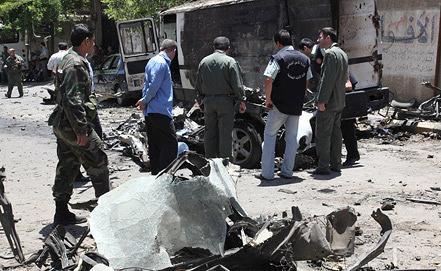 Сирия. Место трагедии. Фото из архива EPA/YOUSSEF BADAWI
