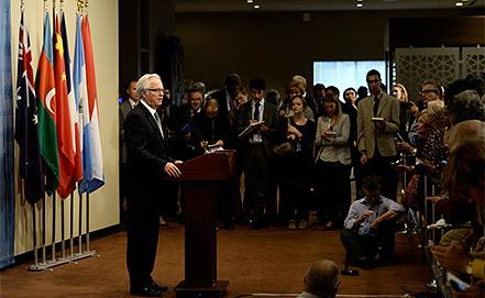 Виталий Чуркин. Фото EPA/JUSTIN LANE