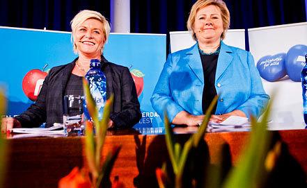 Сив Еенсе и Эрна Сульберг. Фото EPA/VEGARED GROTT