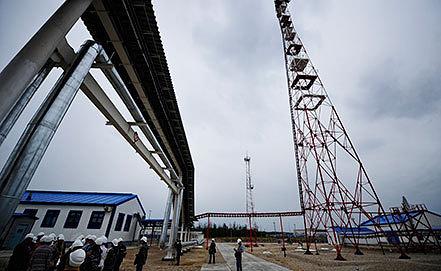 На территории строящейся НПС-11 в поселке Талакан. Фото ИТАР-ТАСС/ Юрий Смитюк