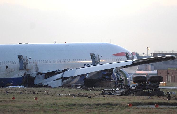 17 января 2008 года в лондонском аэропорту Хитроу Boeing 777-200ER авиакомпании British Airways совершил жесткую посадку на грунт