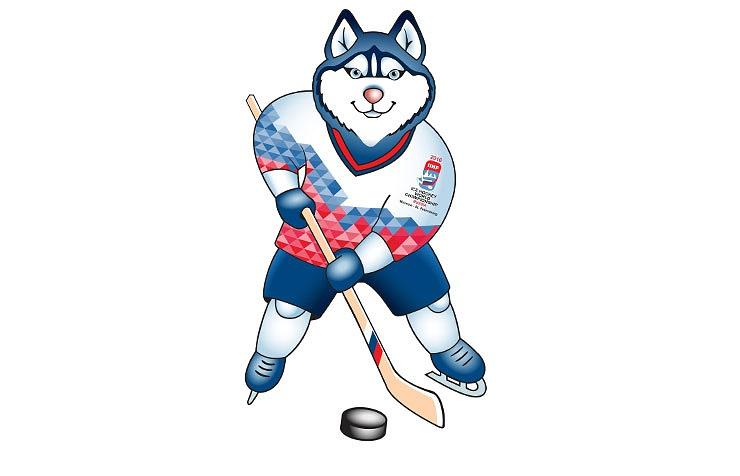 Лайка - талисман ЧМ-2016 по хоккею