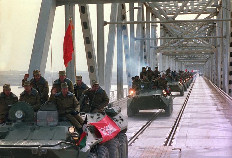 Последние части советской армии покидают Афганистан, 1989 г.