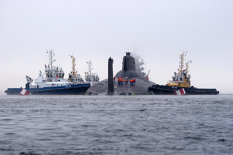 """Ракетный подводный крейсер стратегического назначения """"Дмитрий Донской"""""""