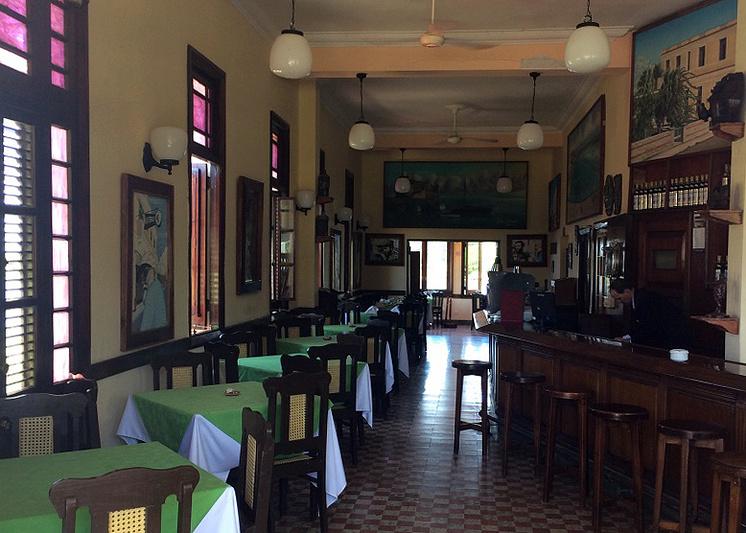 """Любимый ресторан Хемингуэя """"Терраса"""" в рыбацком поселке Кохимар"""