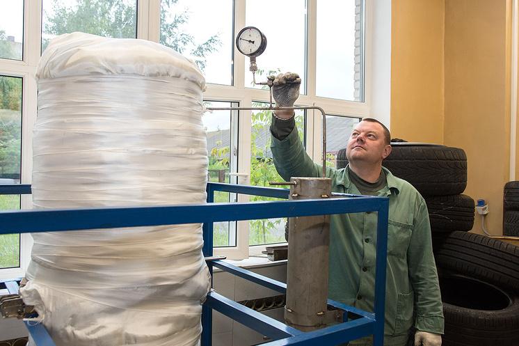 Переработка шин в Физико-энергетическом институте Обнинска